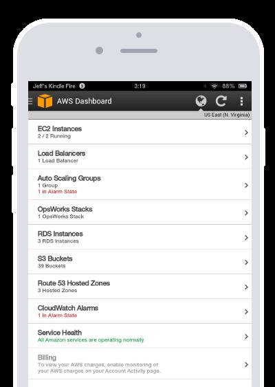 Mobile AWS Console